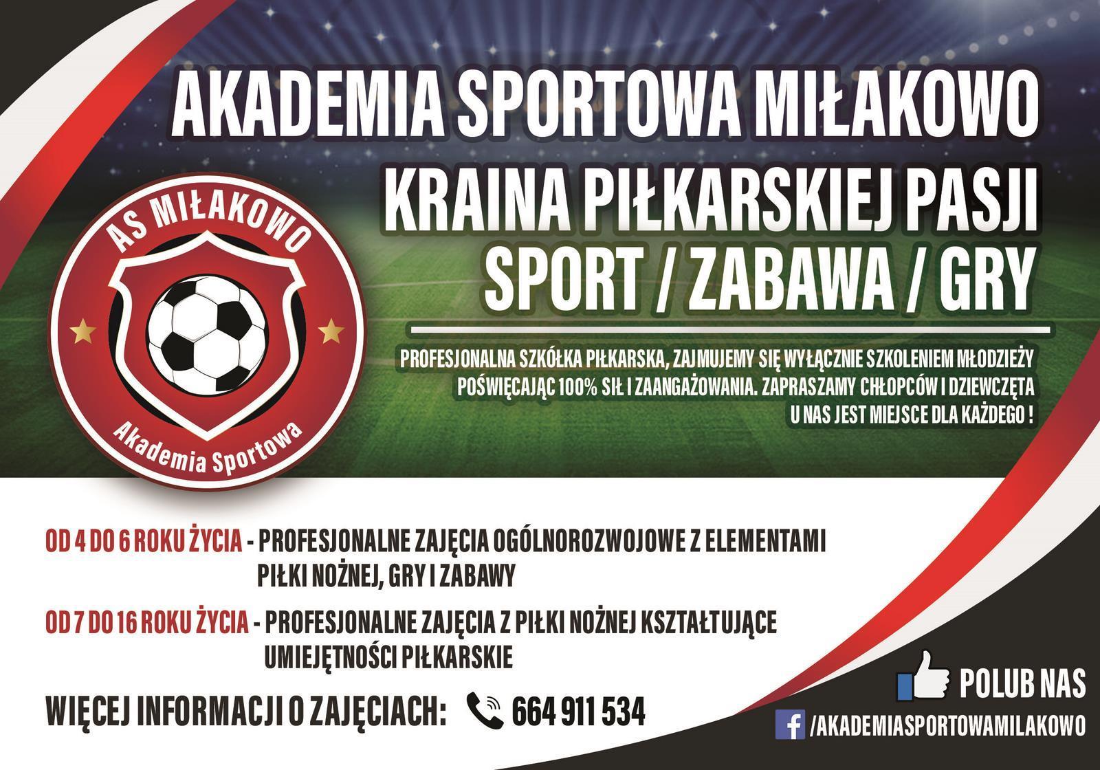 AS Milakowo - Zapraszamy do kontaktu