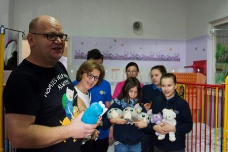 Wizyta w szpitalu w ramach akcji Pluszowy Miś