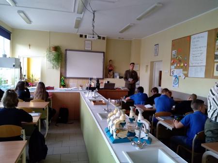 Spotkanie z absolwentem- obecnie uczniem IV klasy Technikum Leśnego w Tucholi.
